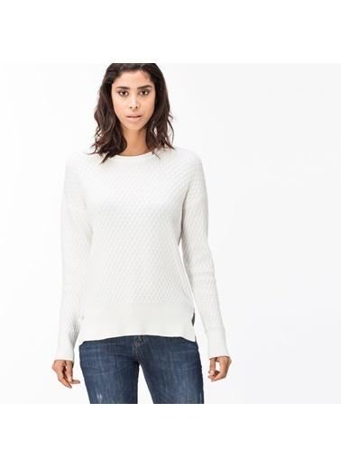 Lacoste Kadın  Sweatshirt SF1902.02A Beyaz